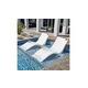 Floating Luxuries Kai Shelf Lounger | Set of 2 | White | FL600WE