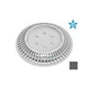 """AquaStar 8"""" Round Color Choice Suction Outlet Cover with Screw Kit   Dark Gray   CC8105"""