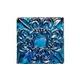 National Pool Tile Deco Accent Glass Tiles 3x3 Fleur de Lis Motif | Rainbow | OCN-RNFLEURSM