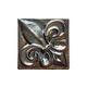 National Pool Tile Deco Accent Glass Tiles 3x3 Fleur de Lis Single | Bronze | OCN-BZ FLEURBG