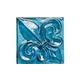 "National Pool Tile Aquascapes 3"" x 3"" Fleur de Lis Single Glass Deco | Bondi | OCN-BIFLEURBG"