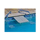 Global Pool Products 2-Seat Swim-Up High-Top Table | Gray Powder Coated Structure with Gray Top | GPPOTE-2STHT-GRAY