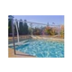 Global Pool Products Volleyball Set | 16' Net with Cooper Vein Powder Coated Stainless Steel Poles | GPPOTE-VBS16-CV