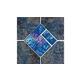 National Pool Tile Aztec Series 6x6 Deco | Cobalt | AZ606 DECO