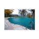 Merlin Dura-Mesh 15-Year Mesh Safety Cover | Rectangle 16' x 32' | 1' or 2' Offset 4' x 8' Right Side Step | Green | 25M-M-GR