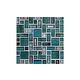 National Pool Tile Cosmopolitan Mosaic Glass Tile | Turquoise | COS-MIAMI
