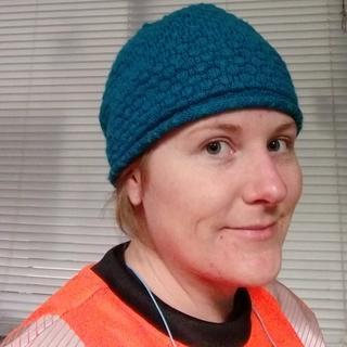 Just beanie cap (neck piece tucked into cap)