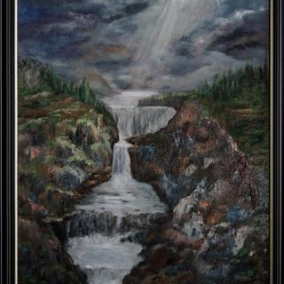 """Oil painting on canvas ( 18"""" x 24"""" )"""
