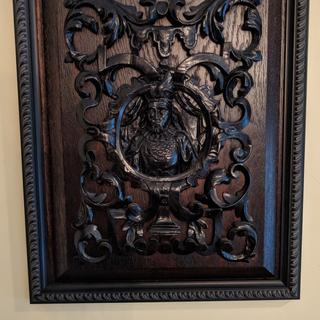 framed wood panel