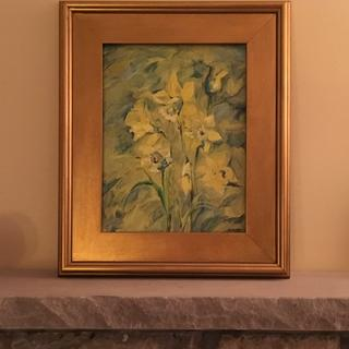 Daffodils. 10x13. Oil painting on panel. PL7 frame.