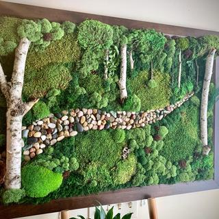 "Moss art. WhiteHaus Living on Etsy.  The Journey collection. Frame size 27""x39"""