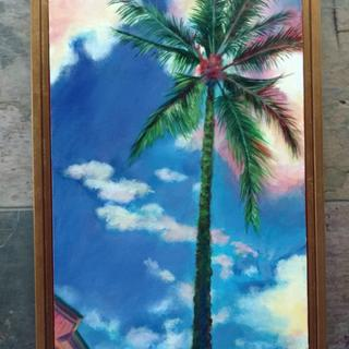 Palm Dreams with Gold Floater Frame (natural light)