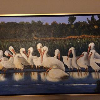 """Finished this painting """"Kiawah Block Party """" and the frame was perfect !"""