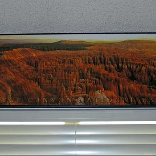 Picture mounted above front window.