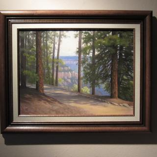 The lovely frame enhances the original painting of the Grand Canyon