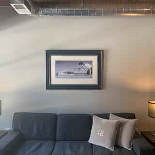 Looks amazing in my living room and really adds to the art without distracting. Love it.