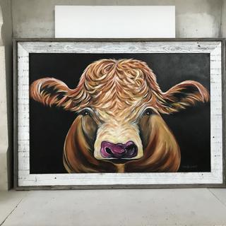 Pretty Cow- with BWM3 Whitewash frame-