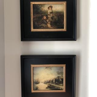 Love these frames. The paintings are highlighted beautifully.