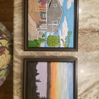 Loved these raised frames for my little art projects!