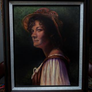 """This painting titled """"A midnight Walk by J K Gastrock"""" looks amazing behind this frame. I love it."""