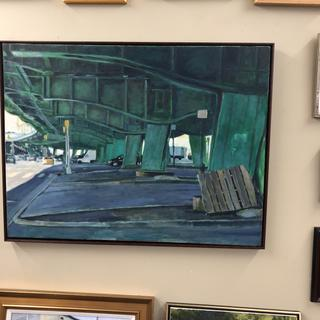"Painting of Underneath the Gowanus Expressway in Brooklyn, 48x36"", by Robert H. Lafond."