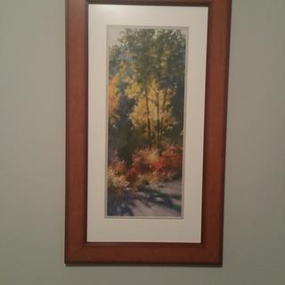 AR12 Fruit wood frame with print of pastel by Laurie Fry. Perfect combination!