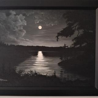 River Moon - Oil on Canvas 18x24""