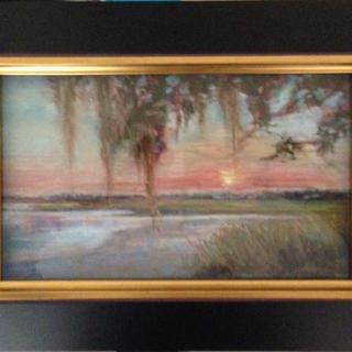 Beautiful frame.  Perfectly suited to my pastel painting.