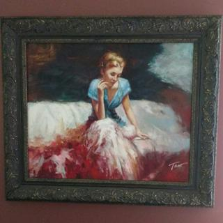 Girl in Thought.