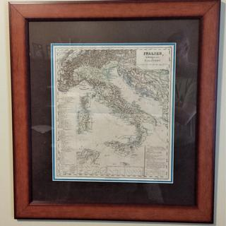 Historic Map Of Italy