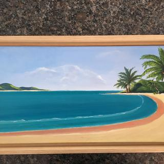 This frame is my favorite and it is perfect for my Caribbean beach painting.  Love PictureFrames !!!