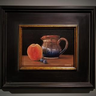 Still Life with Peach and Berries.