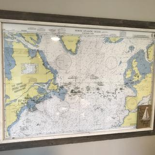 This is a marine chart of me crossing the North Atlantic.