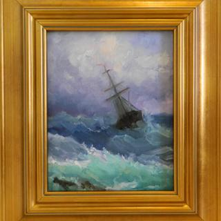 """Stormy Seas, after Ivan Aivazofsky"", 8x10 by Maryanne jacobsen"
