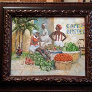 Caribbean Market Place - The frame is a very good quality.