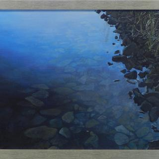 """Clear Shore"", Acrylic on Panel,   18 x 30.5 inches, by Jeff Lodge,"