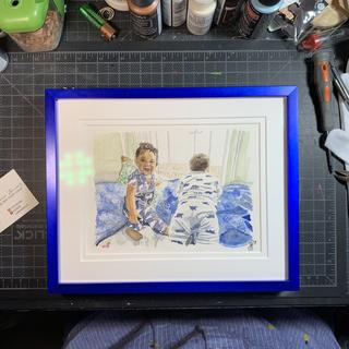 Good quality - matting/museum glass purchased separately - perfectly cut and speedily shipped!