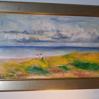 "Giclee print of Renoir ""Dunes."""