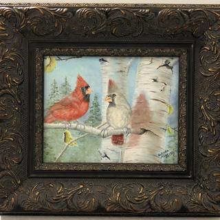Midnight Gold framed really made this painting POP. A frequent choice of clients.