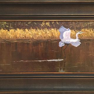 """""""That Was Zen"""" 8"""" x 16"""" oil on linen panel by Judy Lalingo"""