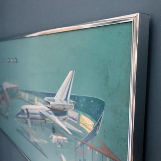 I bought this frame to complete a cool, 1960's hand painted 'airport' print.