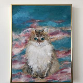 Cloud Catlus with gold frame frontal view
