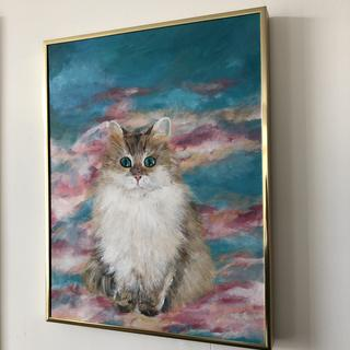 Cloud Catlus with gold frame angle 1