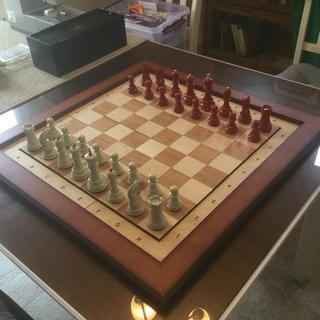 Finished chessboard and fruitwood frame combination. Had a lot of fun putting this together.