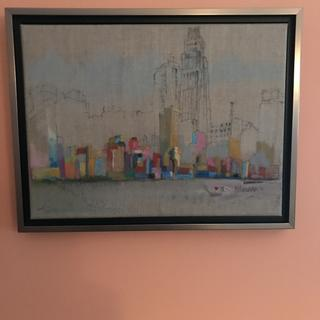 """""""New York Skyline"""", oil stick, ink and acrylic by Kate Horan"""