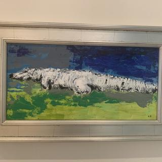 Alligator I saw on the golf course and painted from a photo