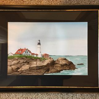 """Portland Head""  Original watercolor"