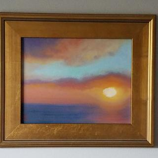 Turquoise Sunset original oil painting by Melissa Wadsworth
