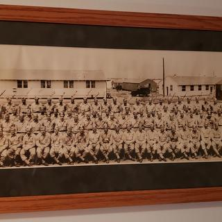 My dad's army picture, dated September 11, 1944.  The framing brought it back to life!