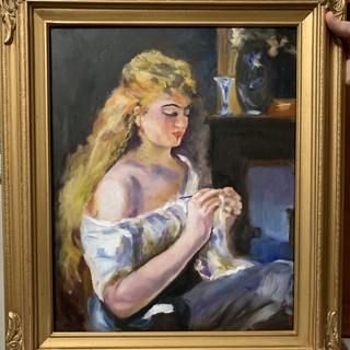 """I copied a Renoir and I needed the perfect frame and I found it at <a href=""""http://pictureframes.com."""" target=""""_blank"""">pictureframes.com.</a> Love it."""